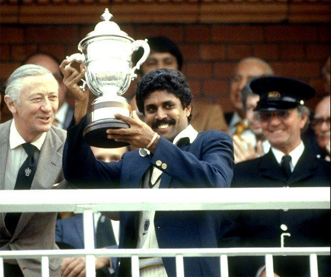 Captain Kapil Dev took a 5-for in the 1983 WC