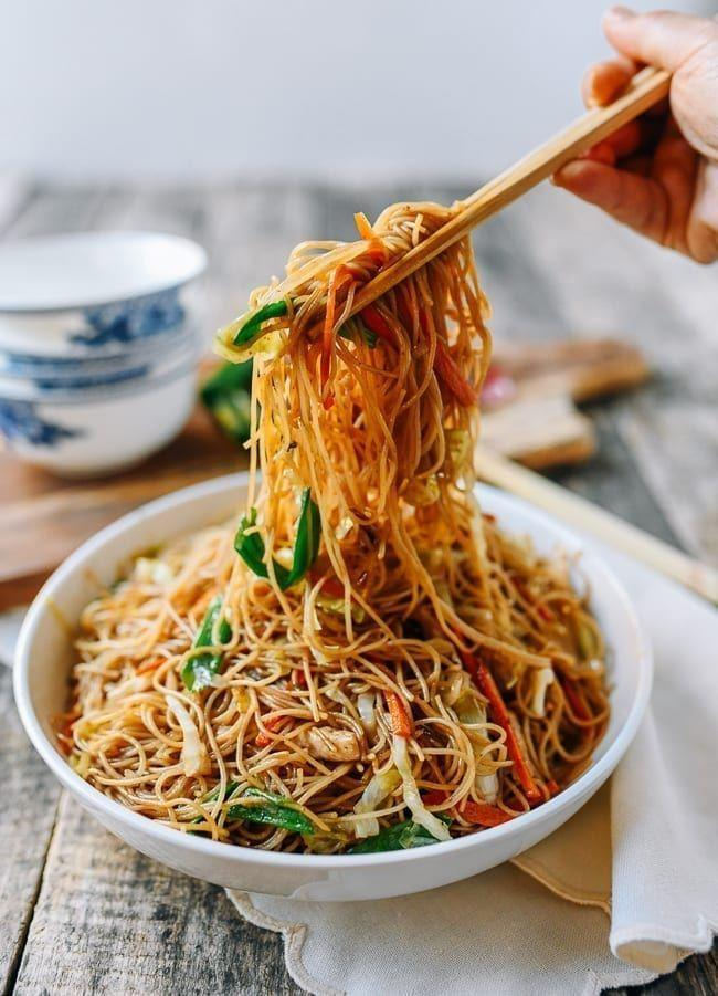 "<p>Make this easy dish of rice noodles, vegetables, and chicken on Sunday and enjoy leftovers throughout the week.</p><p><em><a href=""https://thewoksoflife.com/chicken-mei-fun/"" rel=""nofollow noopener"" target=""_blank"" data-ylk=""slk:Get the recipe from The Woks of Life »"" class=""link rapid-noclick-resp"">Get the recipe from The Woks of Life »</a></em> </p>"