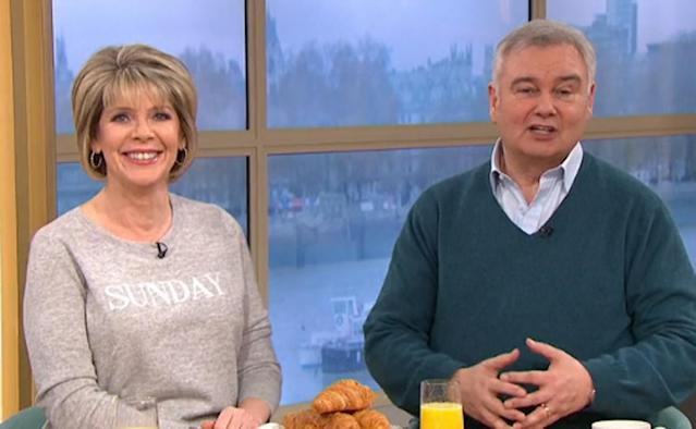 Ruth Langsford and Eamonn Holmes on This Morning (Credit: ITV)