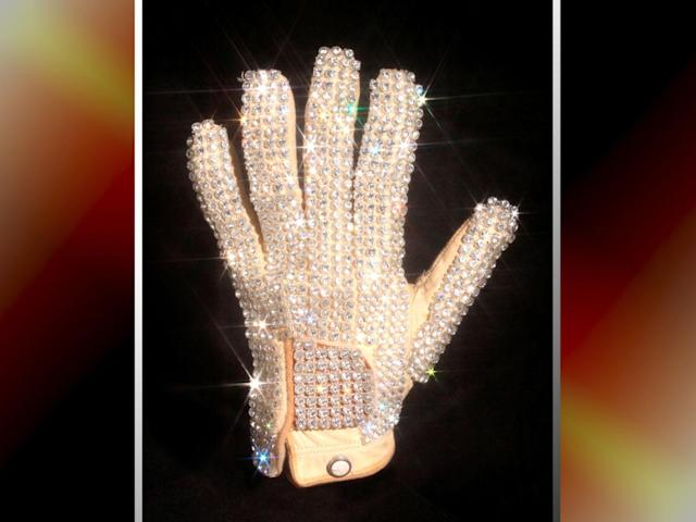 Michael Jackson's glove from his 1983 performance of Billie Jean at the Motown 25 television special where he performed the Moonwalk for the first time (Julien's Auctions handout image)