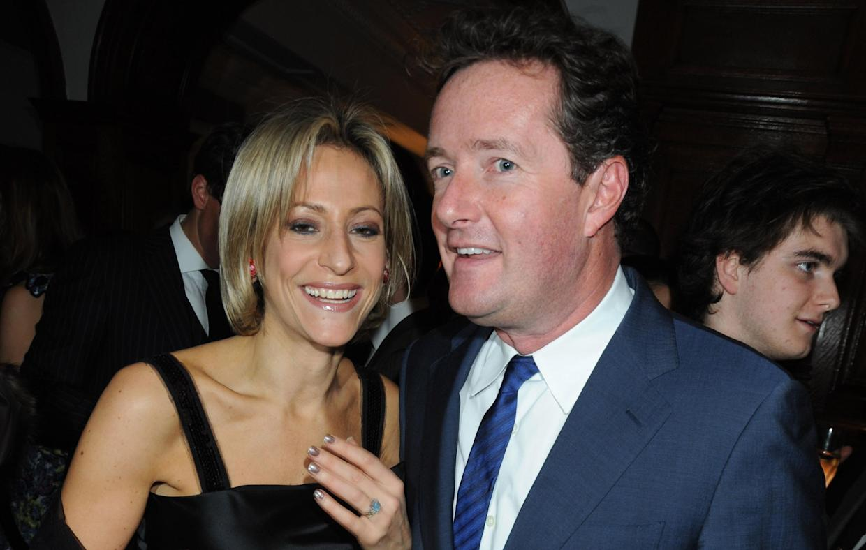 Emily Maitlis and Piers Morgan