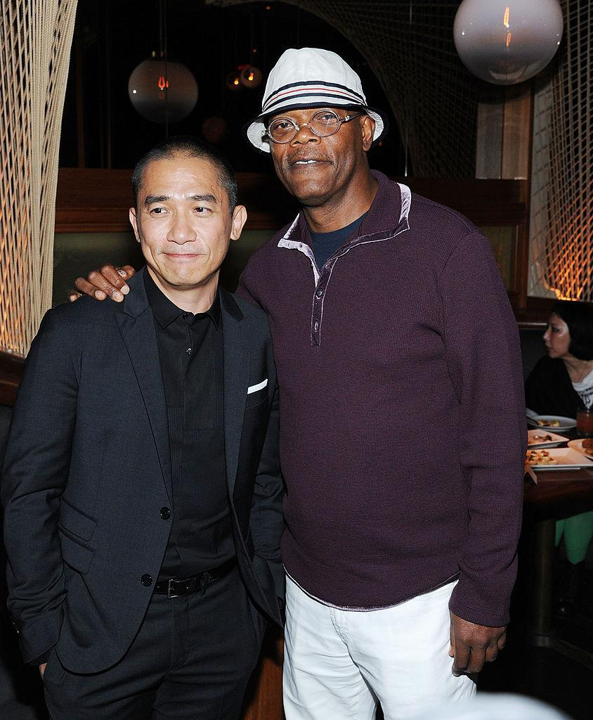 NEW YORK, NY - AUGUST 13: Tony Leung and Samuel L. Jackson attend 'The Grandmaster' New York Screening after party at Forty Four at the Royalton on August 13, 2013 in New York City. (Photo by Ilya S. Savenok/Getty Images)
