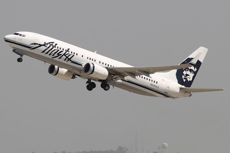 The man was detained on the Alaska Airlines flight: David McNew/Getty Images