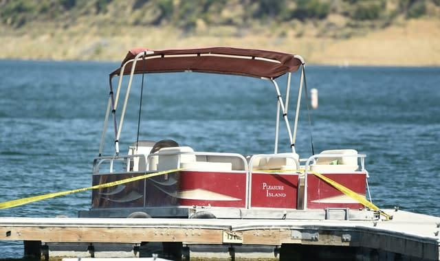 Actress Naya Rivera went missing after taking this rented boat out on Lake Piru in Southern California (AP Photo/Chris Pizzello)