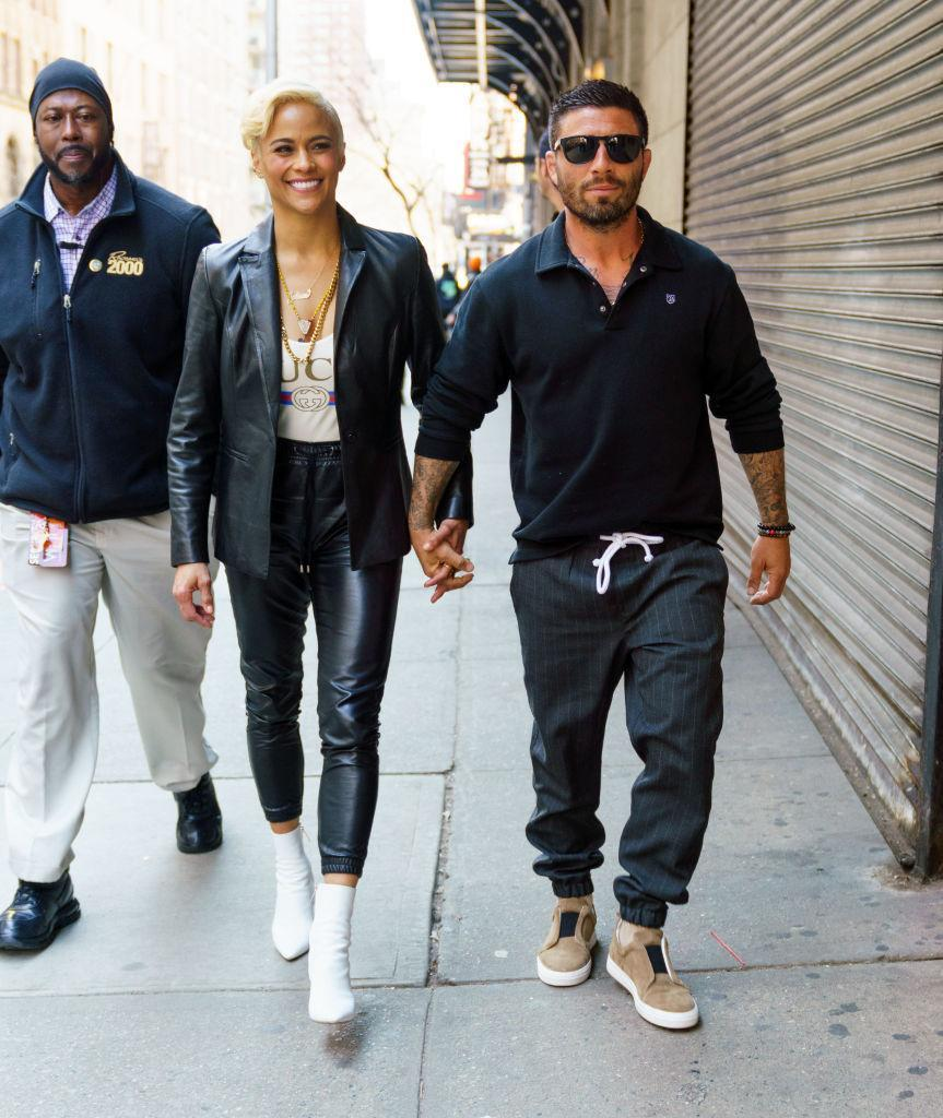Paula Patton and Zachary Quittman in New York City. (Photo: Jackson Lee/GC Images)