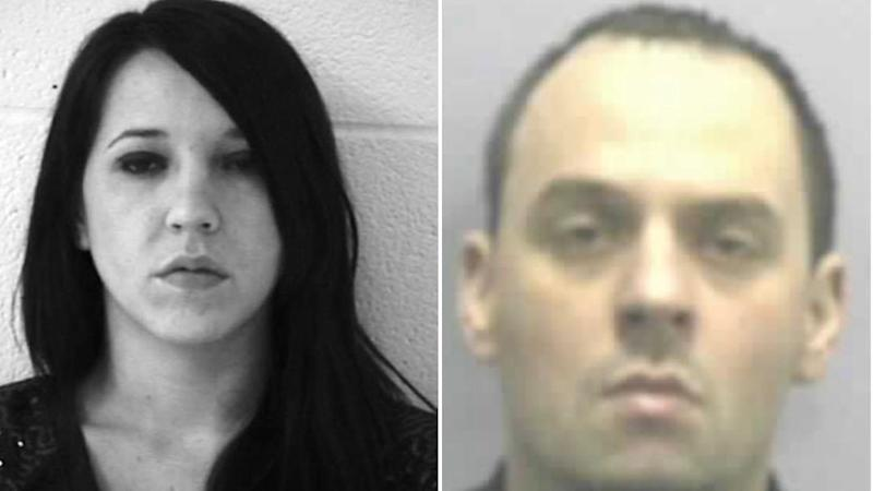Mr and Mrs Walters are pictured in jailhouse mug shots. Source: supplied