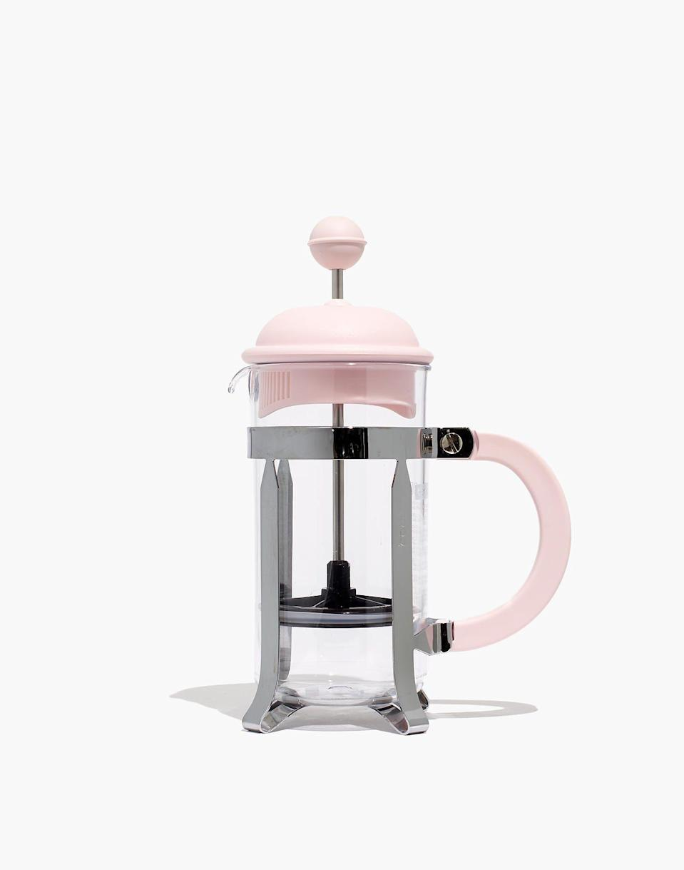 """<p><strong>Bodum® </strong></p><p>madewell.com</p><p><strong>$15.00</strong></p><p><a href=""""https://go.redirectingat.com?id=74968X1596630&url=https%3A%2F%2Fwww.madewell.com%2Fbodumreg%253B-coffee-press-K8195.html&sref=https%3A%2F%2Fwww.seventeen.com%2Ffashion%2Fg36178420%2Flast-minute-mothers-day-gifts%2F"""" rel=""""nofollow noopener"""" target=""""_blank"""" data-ylk=""""slk:Shop Now"""" class=""""link rapid-noclick-resp"""">Shop Now</a></p><p>This is how coffee was meant to be made. </p>"""