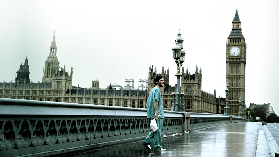 "<p> A staple feature of many ""best zombie movies"" lists, Danny Boyle's 28 Days Later never actually refers to any of it's infected as zombies. Instead of focussing on the monsters, the director spends a good chunk of the film encompassing the viewer in an eerie, empty London. The atmosphere is heavy as protagonist Jim (Cillian Murphy) wakes up from a coma to a ghost town following an outbreak of the ""rage virus"". 28 Days Later and its home-made, gritty look make it a standout of the genre. It's chilling to watch as Jim wanders an abandoned city unbeknownst to what happened to everyone around him, and it only becomes bleaker and bleaker as he meets the infected and the military on his search for answers. </p>"