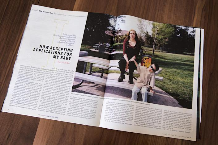 The original article in the New York Times Magazine written by Lisa Belkin. Michael Matt saw the article and contacted Belkin to do a follow-up story. (Photo: Kayana Szymczak for Yahoo News)