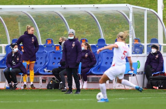 Hege Riise, middle, leads England against Canada on Tuesday