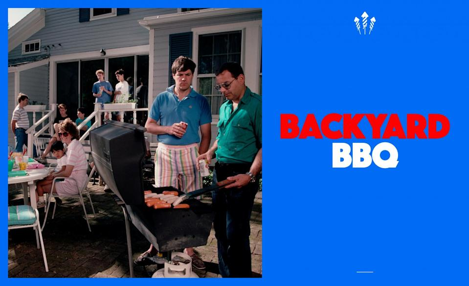 <p>Is there anything better than eating a perfectly grilled burger on the 4th of July? We suggest pairing it with a romper, skinny neck-tie and cool shades to keep you comfortable for the afternoon. (Photo: Getty) </p>