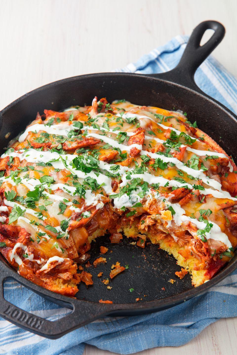 """<p>Hot take: Cornbread is the best bread.</p><p>Get the recipe from <a href=""""https://www.delish.com/cooking/recipe-ideas/recipes/a50031/chicken-tamale-pie-recipe/"""" rel=""""nofollow noopener"""" target=""""_blank"""" data-ylk=""""slk:Delish"""" class=""""link rapid-noclick-resp"""">Delish</a>. </p>"""