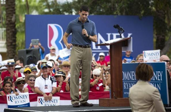 Paul Ryan speaks during a campaign event at The Villages in Lady Lake, Florida August 18, 2012.