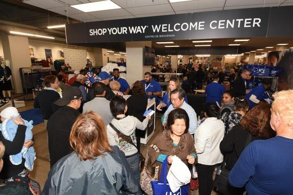 Crowds at Sears Oak Brook, Ill. store reopening