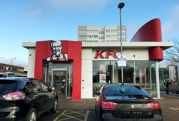 "The KFC is known in the city as one of ""Brum's roughest"" with many customers afraid to visit the restaurant after dark due to antisocial behaviour. (SWNS)"