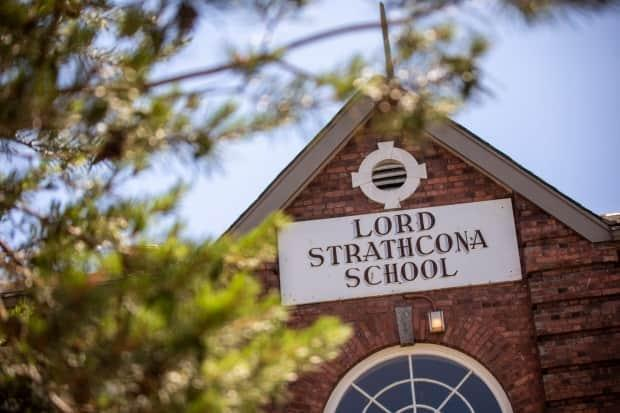 Lord Strathcona Elementary School in Vancouver is one of eight schools in the city named for a British lord, compared to five in the rest of the province combined.  (Ben Nelms/CBC - image credit)