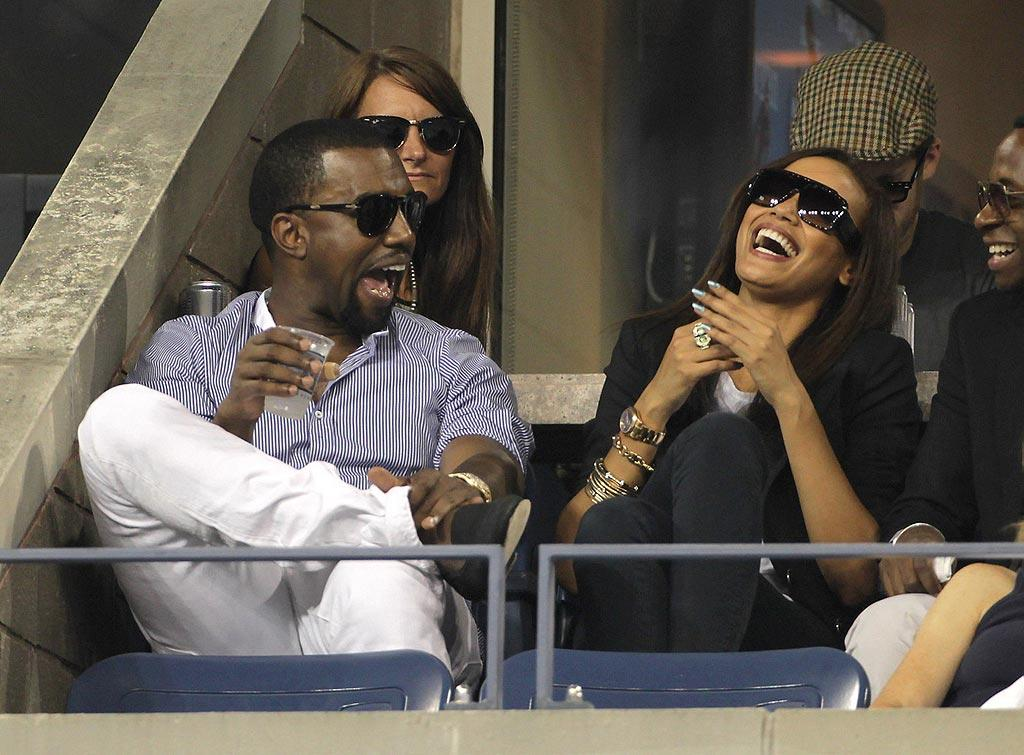 """Kanye West was spotted laughing it up with Selita Ebanks on Wednesday while watching Andy Roddick take on Janko Tipsarevic at the U.S. Open. Although the rapper and the model were rumored to be dating in 2008, sources at the time said they were just friends. Think they'd make a cute couple? Juan Soliz/<a href=""""http://www. PacificCoastNews.com"""" target=""""new"""">PacificCoastNews.com</a> - September 11, 2010"""