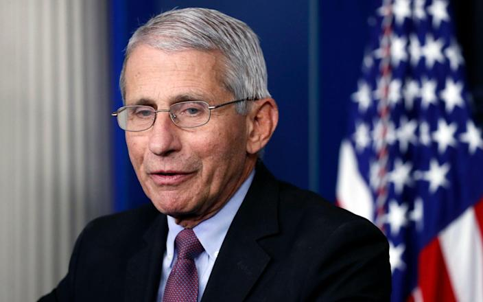 Dr Anthony Fauci is director of the National Institute of Allergy and Infectious Diseases - AP Photo/Alex Brandon