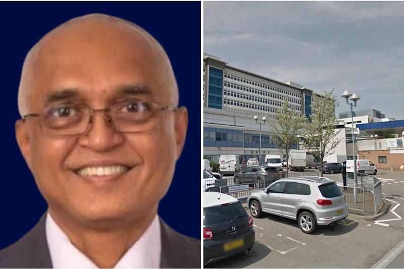 Cardiff and Vale University Health Board published a tribute to Jitendra Rathod: PA/ Google Maps