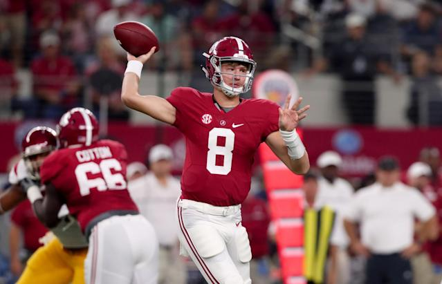 Blake Barnett started vs. USC (Getty).