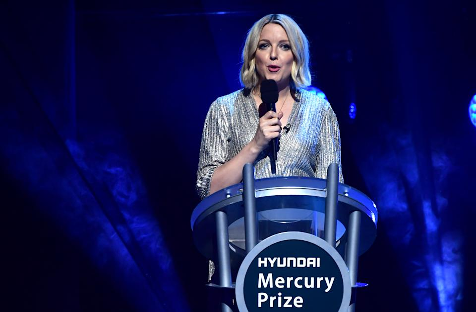 Lauren Laverne presenting during the Hyundai Mercury Prize 2019, held at the Eventim Apollo, London. (Photo by Ian West/PA Images via Getty Images)