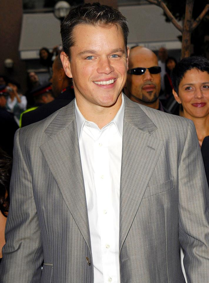 """Matt Damon has two big movies opening Summer '07. George Pimentel/<a href=""""http://www.wireimage.com"""" target=""""new"""">WireImage.com</a> - September 10, 2006"""