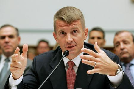 FILE PHOTO: Erik Prince on Capitol Hill in Washington