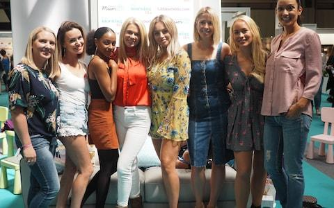 Siobhan Freegard with some of Channel Mum's vloggers