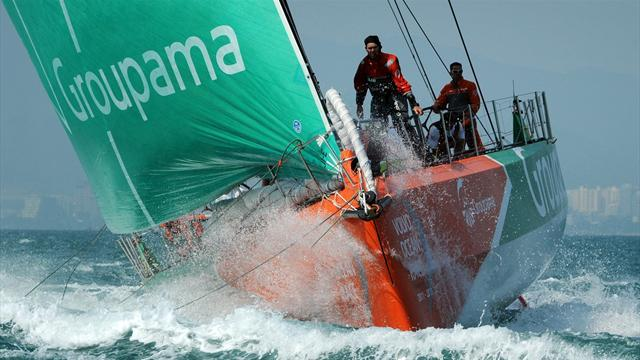 Stapled-up sailor helps Groupama clinch third