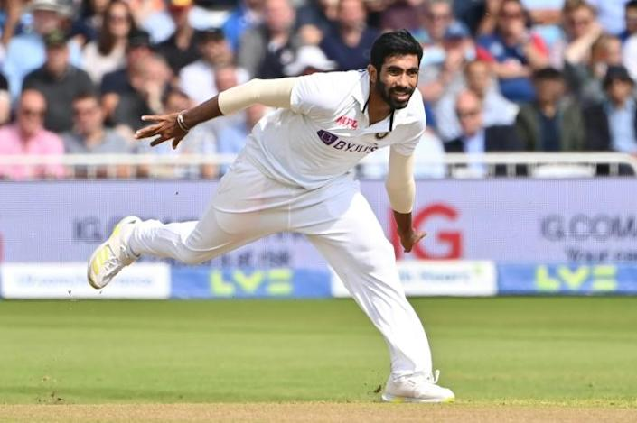 Early strike - India's Jasprit Bumrah in action in the first Test against England at Trent Bridge on Wednesday