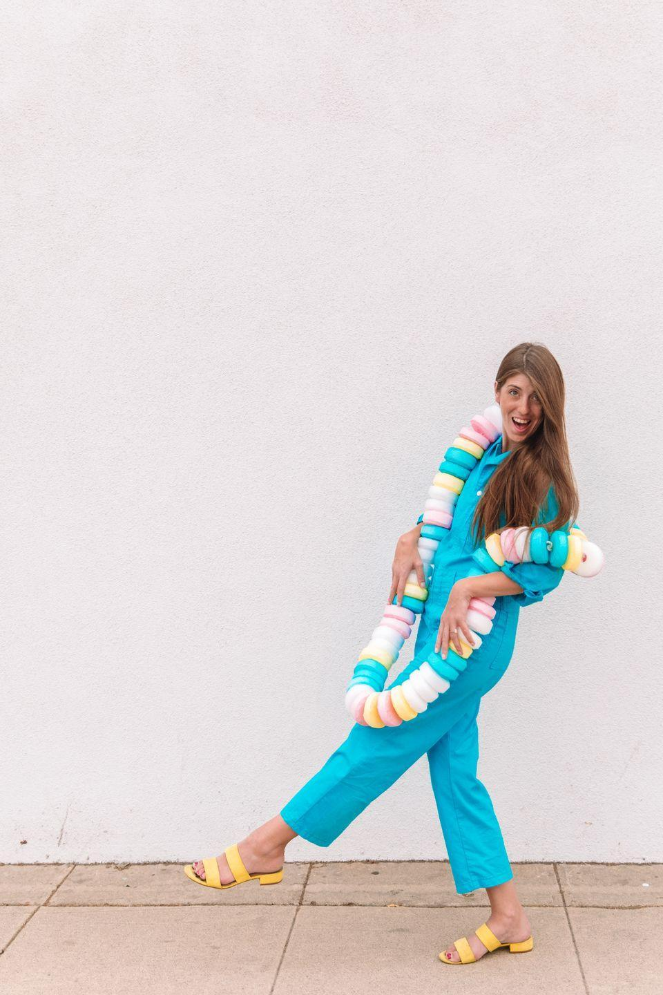 """<p>A super sweet take on the DIY costume that requires just five simple supplies and make good use of those $1 pool noodles when the season is over.</p><p><a class=""""link rapid-noclick-resp"""" href=""""https://studiodiy.com/diy-candy-necklace-costume-sweet-tooth-couples-costume/"""" rel=""""nofollow noopener"""" target=""""_blank"""" data-ylk=""""slk:GET THE TUTORIAL"""">GET THE TUTORIAL</a></p><p><a class=""""link rapid-noclick-resp"""" href=""""https://www.amazon.com/dp/B00P4CGKS0/?tag=syn-yahoo-20&ascsubtag=%5Bartid%7C10072.g.33547559%5Bsrc%7Cyahoo-us"""" rel=""""nofollow noopener"""" target=""""_blank"""" data-ylk=""""slk:SHOP POOL NOODLES"""">SHOP POOL NOODLES</a></p>"""