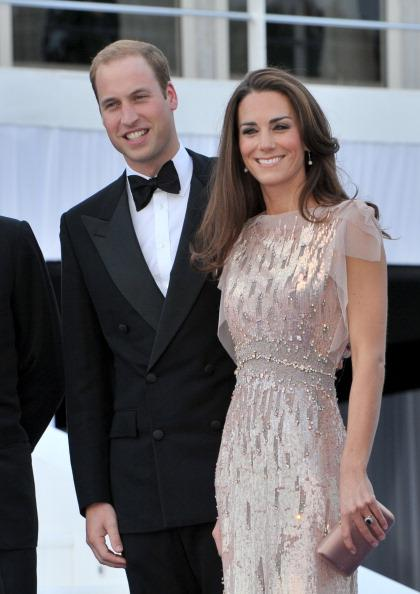 Catherine, Duchess of Cambridge looked stunning in a jeweled Jenny Packham gown at her first formal appearance since her marriage to Prince William. According to the palace, the evening gown cost $6,000 and was purchased off the rack. The couple attended the 10th annual ARK gala dinner at Kensington Palace. (Photo: Nick Harvey/Wireimage)