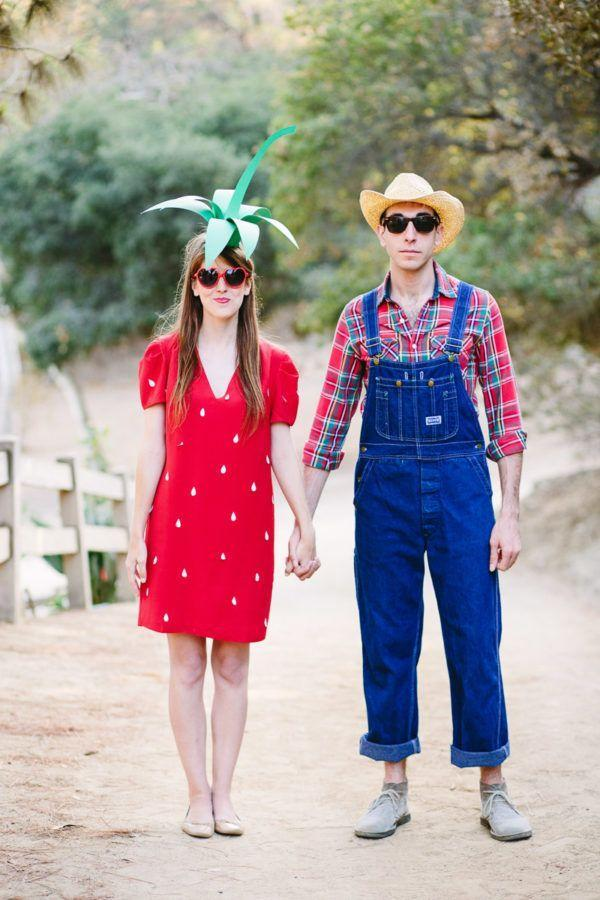 """<p>It's adorable, it's easy-peasy, and it's creative to boot. We're sort of smitten with this strawberry and farmer costume! </p><p><strong>Get the tutorial at <a href=""""https://studiodiy.com/2014/10/08/diy-strawberry-costume/"""" rel=""""nofollow noopener"""" target=""""_blank"""" data-ylk=""""slk:Studio DIY"""" class=""""link rapid-noclick-resp"""">Studio DIY</a>. </strong></p><p><strong><a class=""""link rapid-noclick-resp"""" href=""""https://www.amazon.com/TINYHI-Womens-Sleeve-Tshirt-X-Large/dp/B06XTL6CYZ?tag=syn-yahoo-20&ascsubtag=%5Bartid%7C10050.g.4616%5Bsrc%7Cyahoo-us"""" rel=""""nofollow noopener"""" target=""""_blank"""" data-ylk=""""slk:SHOP RED T-SHIRT DRESSES"""">SHOP RED T-SHIRT DRESSES</a><br></strong></p>"""