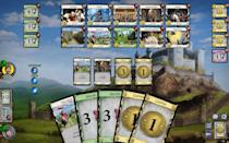 """<p>This deck-building card game is similar to Settlers of Catan, as Dominion challenges players to build their empire and take over as much unclaimed land as possible. The <a href=""""https://dominion.games/"""" rel=""""nofollow noopener"""" target=""""_blank"""" data-ylk=""""slk:online version of Dominion"""" class=""""link rapid-noclick-resp"""">online version of Dominion</a> is just as fun as the real card game, and the four-player base game is available to play for free. You can also opt to buy expansion packs for different variations and larger games. </p>"""