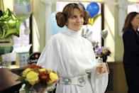 <p>Fey's <em>30 Rock</em> character Liz Lemon finally took the plunge in a 2012 episode all about her unconventional wedding. A Princess Leia costume in lieu of a wedding dress definitely fit the bill! (Photo: Getty Images) </p>