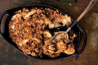 "Natalie Chanin is famous for her dead-simple but delicious apple crisp, which is often on the menu at the café in her Alabama Chanin store. <a href=""https://www.bonappetit.com/recipe/whole-wheat-apple-crisp?mbid=synd_yahoo_rss"" rel=""nofollow noopener"" target=""_blank"" data-ylk=""slk:See recipe."" class=""link rapid-noclick-resp"">See recipe.</a>"