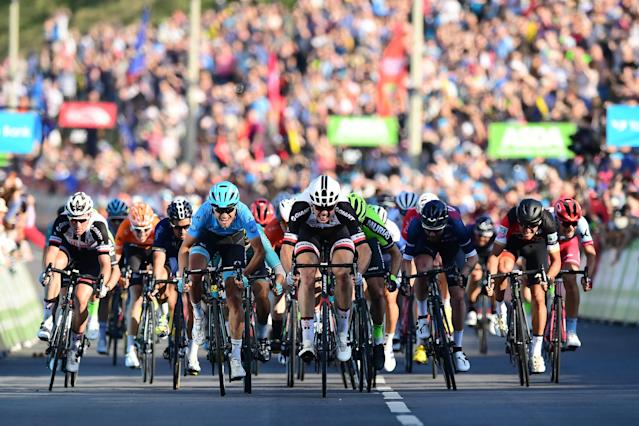 The third stage of the Tour de Yorkshire ended in Scarborough