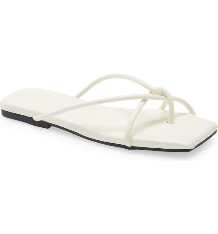 <p>I'm a sucker for old-school flip-flops, but this season I've upgraded with the <span>Open Edit Odin Flip Flops</span> ($40). They have a more stylish fresh look to them, but they're easy to slip on at all times and head out of the house in.</p>