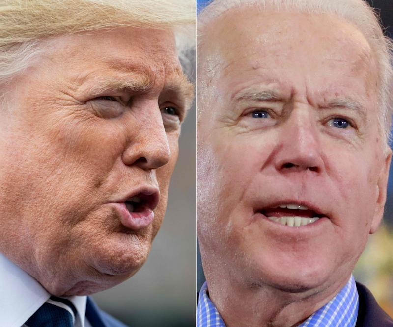 Donald Trump and Joe Biden are both well into their seventies, and Mr Trump is trying to focus the race on cognitive health: AFP via Getty Images