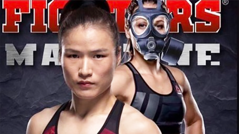 Joanna Jedrzejczyk and Weili Zhang, pictured here in a UFC promo.