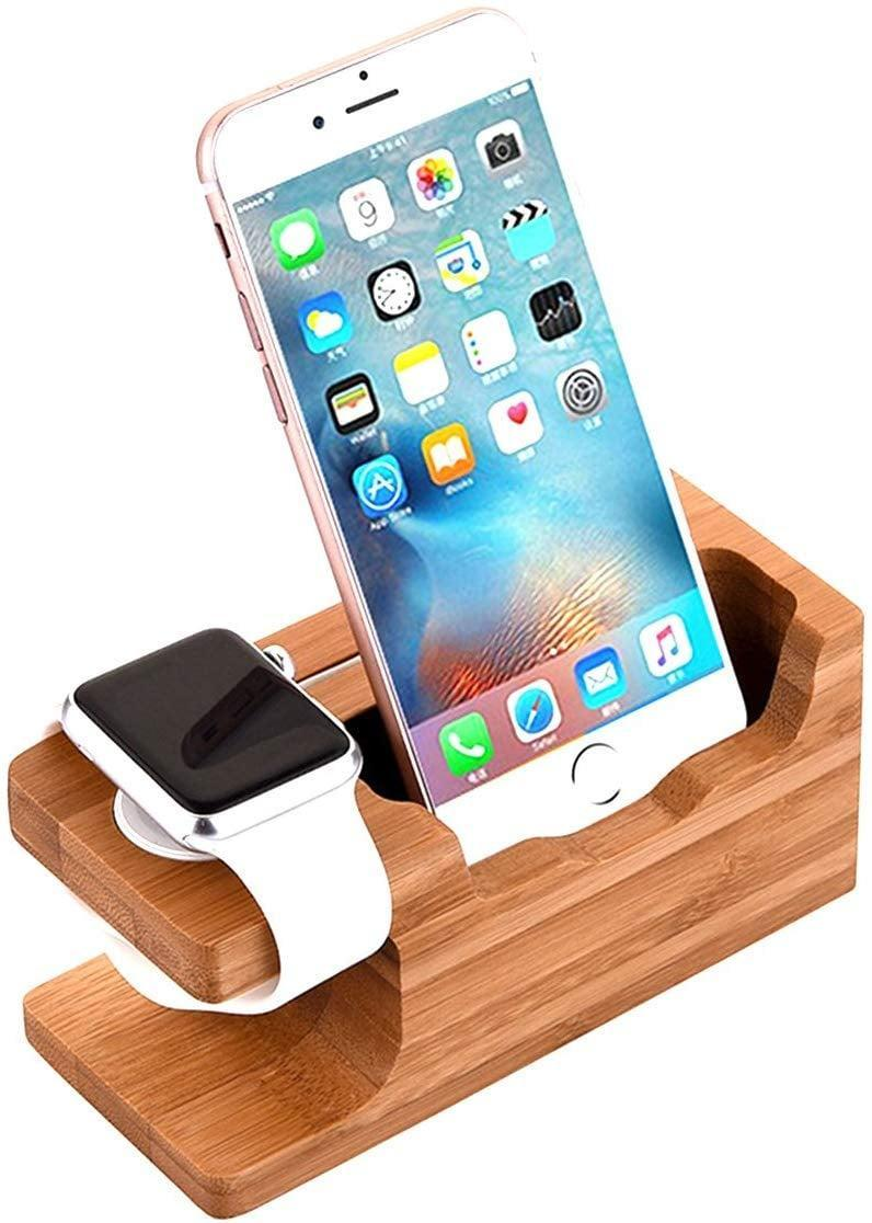 <p>Keep your side table organized with this <span> iWatch Wood Charging Stand</span> ($15).</p>