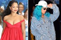 <p><strong>When:</strong> August 5<br>The singer swapped her luscious black locks for an edgy turquoise do while out in Barbados.<br><em>[Photo: Getty/Instagram]</em> </p>