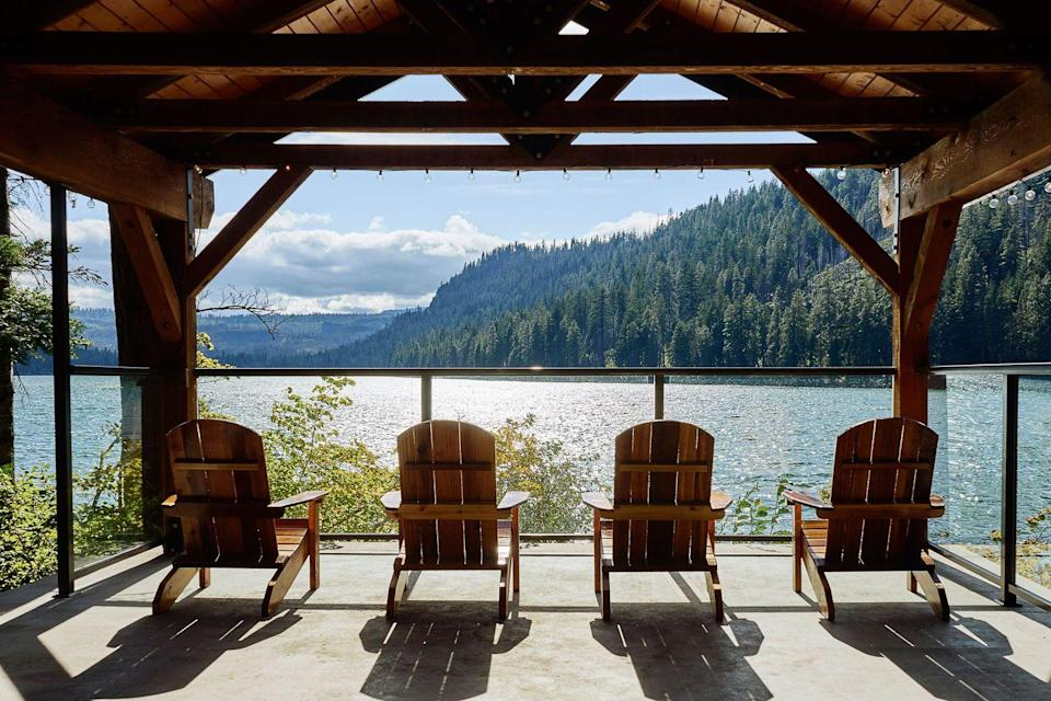 """<p>You came, you crafted, you cocktailed ... you conquered. If you and your girls are craving an adventure-fueled getaway, Sisters(hood) awaits. Book one of the 16 lakeside cabins at <a href=""""http://www.thesuttlelodge.com/"""" rel=""""nofollow noopener"""" target=""""_blank"""" data-ylk=""""slk:Suttle Lodge"""" class=""""link rapid-noclick-resp"""">Suttle Lodge</a>, the 15.5-acre resort that was recently renovated by the same folks behind Portland's popular <a href=""""http://www.acehotel.com/portland"""" rel=""""nofollow noopener"""" target=""""_blank"""" data-ylk=""""slk:Ace Hotel"""" class=""""link rapid-noclick-resp"""">Ace Hotel</a>. This wilderness refuge also mixes up one of the most irresistible condiments known to man: lodge sauce. Try this Ranch-inspired dressing on the burger, fish sandwich, or just about anything. 15-minutes away you'll find the oh-so-Oregon <a href=""""http://www.hopinthespa.com/"""" rel=""""nofollow noopener"""" target=""""_blank"""" data-ylk=""""slk:Hop in the Spa"""" class=""""link rapid-noclick-resp"""">Hop in the Spa</a>, where everyone can treat themselves to a microbrew soak in a cedar soaking tub. For a fun overnight excursion, drive an hour southeast to <a href=""""https://www.destinationhotels.com/hotels-and-resorts/sunriver-resort"""" rel=""""nofollow noopener"""" target=""""_blank"""" data-ylk=""""slk:Sunriver Resort"""" class=""""link rapid-noclick-resp"""">Sunriver Resort</a>, with another great spa and where you can pick up a rental from the <a href=""""http://www.sunriver-resort.com/activities/central-oregon-biking"""" rel=""""nofollow noopener"""" target=""""_blank"""" data-ylk=""""slk:Bike Barn"""" class=""""link rapid-noclick-resp"""">Bike Barn</a> and take on Central Oregon on two wheels.</p><p><strong><em>For more information, visit </em></strong><strong><em><a href=""""http://traveloregon.com/"""" rel=""""nofollow noopener"""" target=""""_blank"""" data-ylk=""""slk:TravelOregon.com"""" class=""""link rapid-noclick-resp"""">TravelOregon.com</a>.</em></strong></p>"""