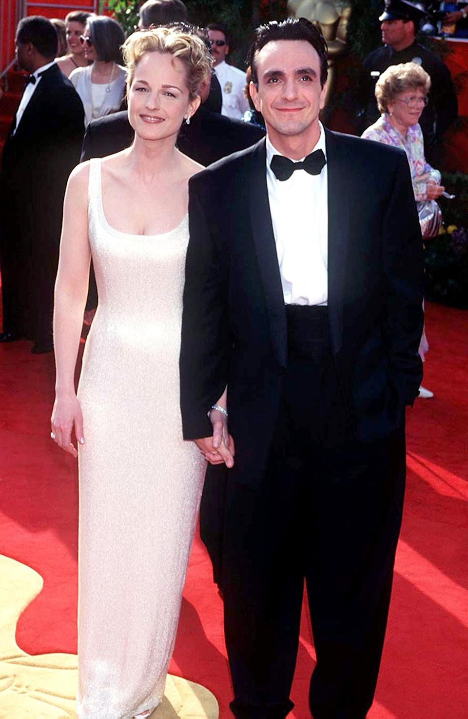 <p>Hunt, with then-boyfriend Azaria, was a presenter at the award show. The following year she would win her first Oscar for 'As Good as It Gets.' (Photo: Magma Agency/WireImage) </p>