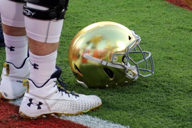 Notre Dame rescinded a signee's offer after he was arrested. (Michael Wade/Icon Sportswire via Getty Images)
