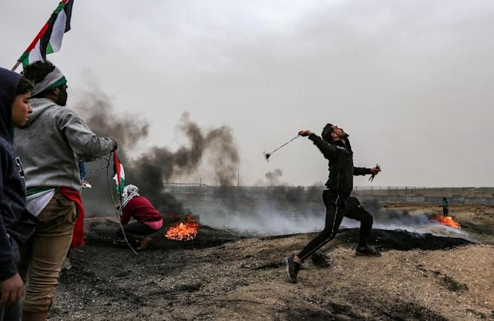 Tensions have been high on Gaza's border with Israel for over a year (AFP Photo/MAHMUD HAMS)