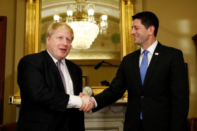 Boris Johnson and Paul Ryan