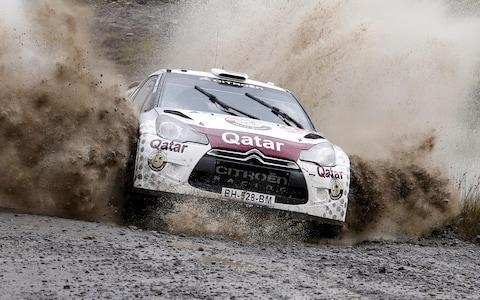Nasser Al Attiyah races at the FIA World Rally Championship 2012 in Wales, Great Britain on September 14th, 2012 - Credit: Red Bull
