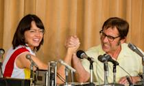 <p>Reuniting the makers of 'Little Miss Sunshine' with Steve Carell, this finds the 'Big Short' star playing Bobby Riggs, the blowhard showman and tennis ace, as he challenges Billie Jean King, played by Emma Stone, in a biopic of their infamous exhibition match dubbed the 'battle of the sexes' in 1973. </p>