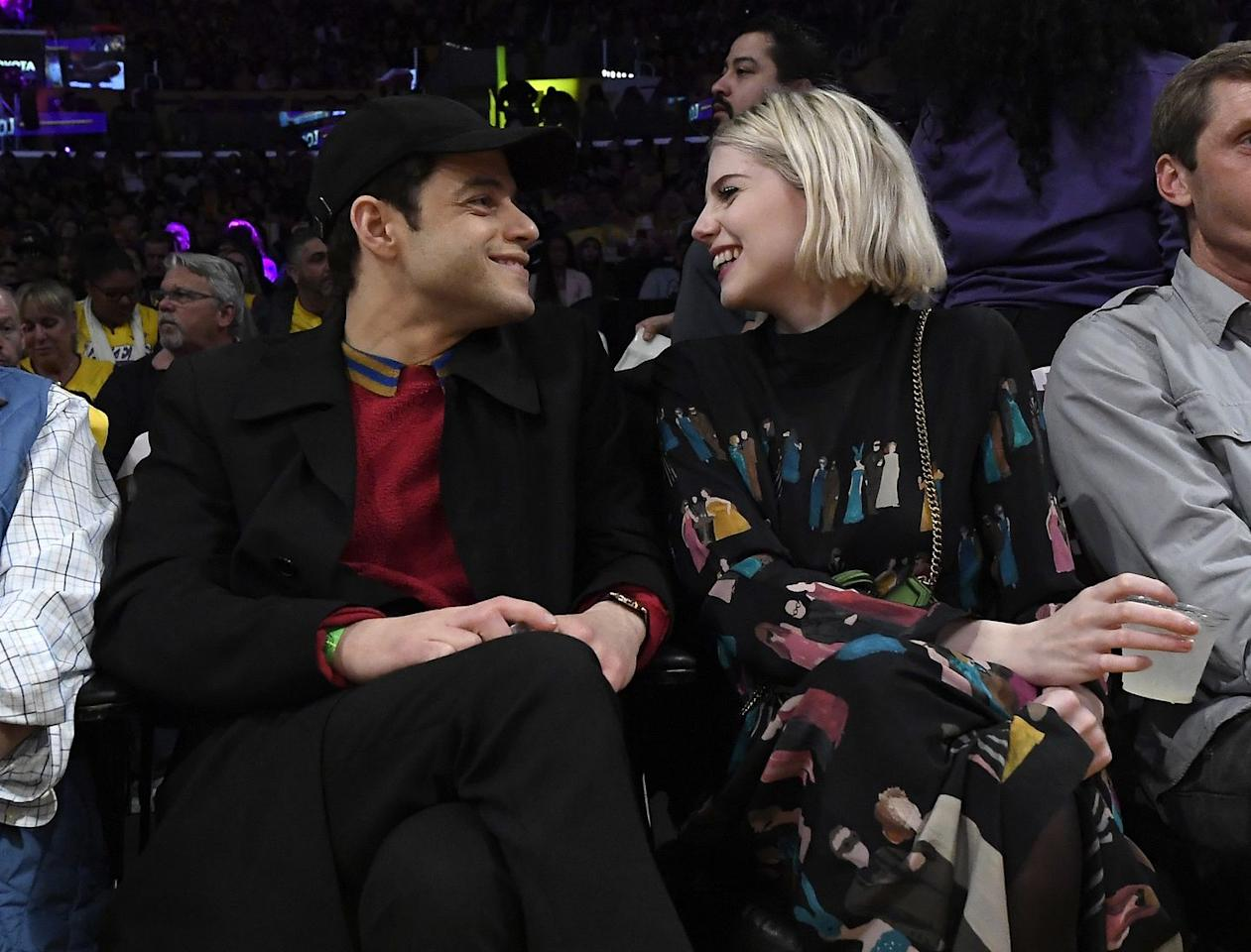 <p>The couple laughed together in courtside seats to watch the Lakers take on the Washington Wizards in LA in November 2019.</p>